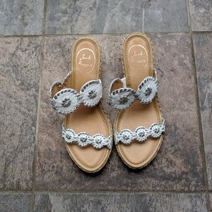 Jack Rogers Shelby Espadrille Wedges size 6.5